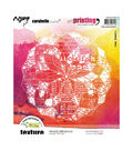 Carabelle Studio Art Printing Rubber Texture Plate-Geometric Ellipse