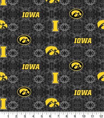 University of Iowa Hawkeyes Flannel Fabric-Tie Dye