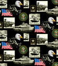 United States Army Cotton Fabric -Allover