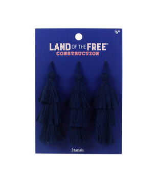 Land of the Free Tassels 3/Pkg-Blue