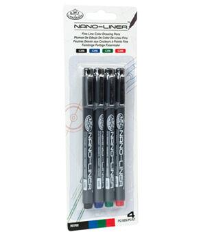 Royal Langnickel 4pk Variety Color 05 Nano Liners