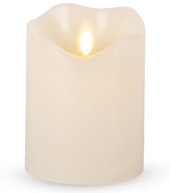 Hudson 43 3x4 Motion Flame LED Candle-Bisque
