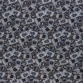 Halloween Cotton Fabric-Black Magic Tossed Cards