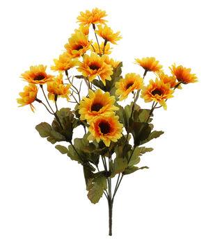 Blooming Autumn 17'' Daisy Bush-Dark Yellow