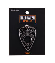 hildie & jo Halloween Jewelry Metal Ouija Pendant-Black, , hi-res