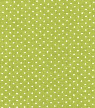 Keepsake Calico Cotton Fabric -Green Dot