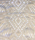 Casa Embellish Spring Deco Sequin Fabric 49\u0022-Pearly Eggnog