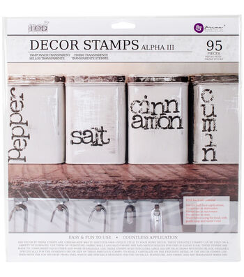 Prima Marketing Iron Orchid Designs 95 pk Decor Clear Stamps-Alpha #3
