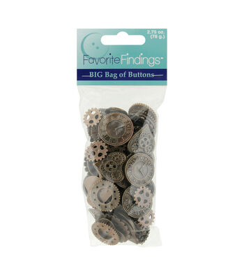 Favorite Findings Steampunk Themed Value Pack Buttons & Flatbacks