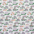 Super Snuggle Flannel Fabric-Orange & Green Turtles