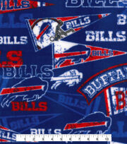 Buffalo Bills Fleece Fabric -Retro, , hi-res