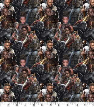 Marvel Black Panther Cotton Fabric-Packed Characer