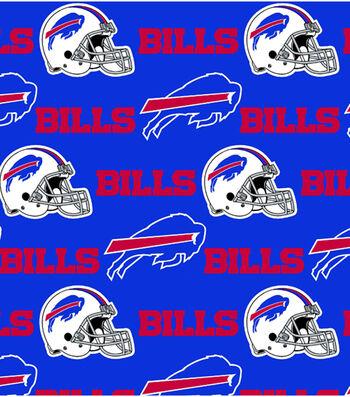 Buffalo Bills Cotton Fabric 58''-Blue