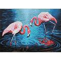 Collection D\u0027Art Diamond Embroidery Kit 27X38cm-Flamingos On the Lake
