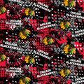 Chicago Blackhawks Cotton Fabric -All Over