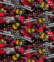 Chicago Blackhawks Cotton Fabric -All Over, , hi-res