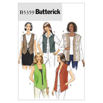 Butterick Misses Vest-B5359