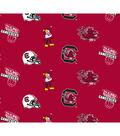 University of South Carolina Gamecocks Cotton Fabric -All Over