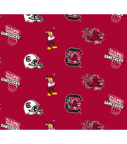 University of South Carolina Gamecocks Cotton Fabric -All Over, , hi-res