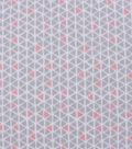 Blizzard Fleece Fabric-Pink & Gray Geo