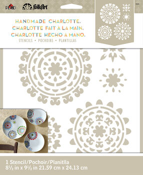 327e36efb FolkArt Handmade Charlotte 8.5''x9.5'' Stencil-Suzani Spendor