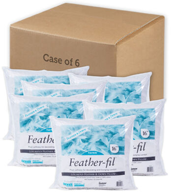 "Feather-Fil 16"" x 16"" Pillows-Case of 6"