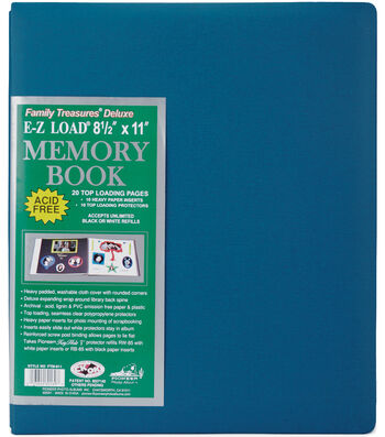 Pioneer E-Z Load DeLuxe 8 1/2''x11'' Postbound Albums