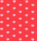 Luxe Flannel Fabric -Coral Hearts