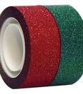 Seal-It 2 pk Glitter Decorative Tapes 3/4\u0027\u0027x300\u0027\u0027-Red & Green