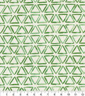 Waverly Upholstery Décor Fabric-Painted Triangles Verte