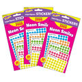 Neon Smiles superSpots Stickers Variety 2500 Per Pack, 3 Packs