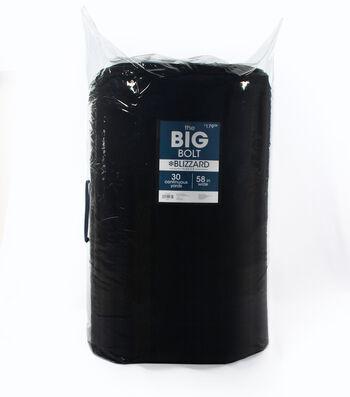 The BIG Bolt Blizzard Fleece Fabric 58''x30 yds-Black