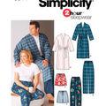 Simplicity Pattern 5314BB Adult Plus Size Sleepwear-Size XL-XXL-XXXL