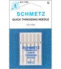 Schmetz Self Threading Machine Needles 5/Pk-Size 12/80