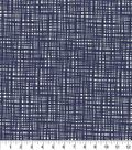 Keepsake Calico Cotton Fabric -Blue Crossed