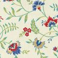 Waverly Upholstery Fabric 54\u0022-Carolina Crewel Bluebell