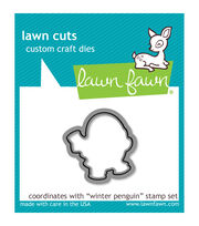 Lawn Fawn Lawn Cuts Custom Craft Die -Winter Penguin, , hi-res