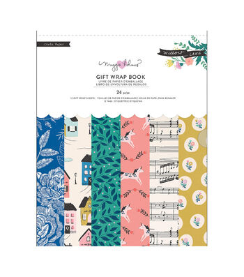 Maggie Holmes Willow Lane Gift Wrap Book 24/Pkg- Wrapping Papers & Tags