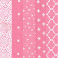 Charm Pack Cotton Fabric 30 Strips 5\u0027\u0027-Assorted Pink Patterns