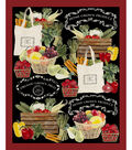 Novelty Cotton Fabric Panel 44\u0022-Gone To Market