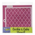 Crafter\u0027s Workshop Cookie & Cake Stencils 5.5\u0027\u0027X5.5\u0027\u0027-Quattrefoil
