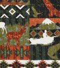 Snuggle Flannel Fabric -Autumn Animals Patchwork
