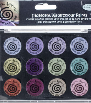 Cosmic Shimmer Iridescent Watercolor Palette Set 9-Frosted & Chic