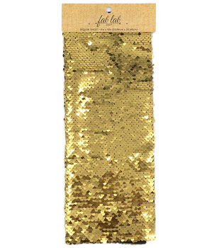 "Fab Lab Craft 9""x12"" Sequin Sheet-Gold & Silver"
