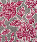 Luxe Fleece Fabric -Wine Floral