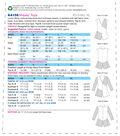 Kwik Sew Pattern K4158 Misses\u0027 V-Neck, Contrast Tops-Size XS-S-M-L-XL