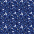 Star of David Cotton Fabric- Tossed Icons