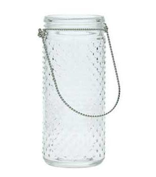 9in Handle Glass Vase