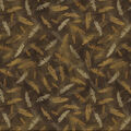 Novelty Cotton Fabric-Falling Feathers Brown