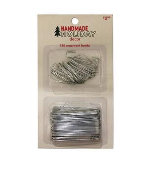 Handmade Holiday Decor Christmas 150 pk Ornament Hooks-Silver